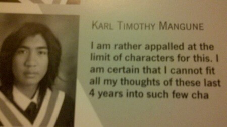 character limit Senior quote