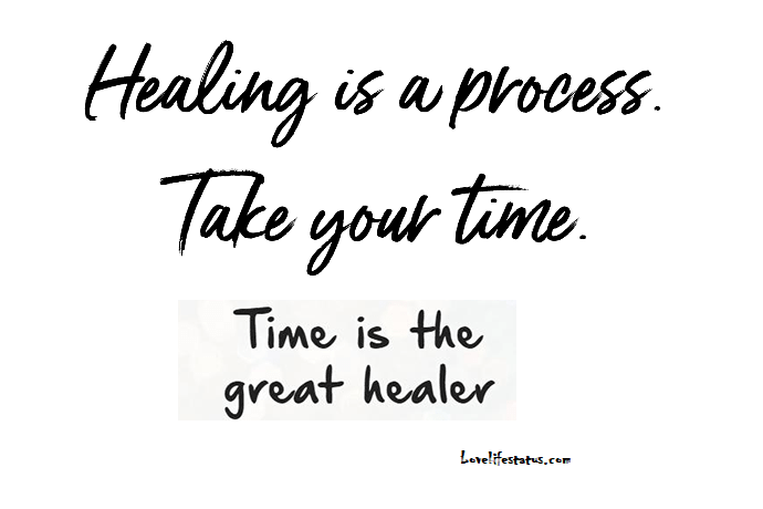 healing is a process quote image