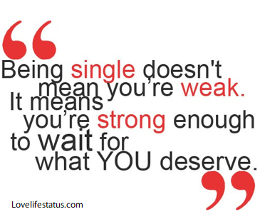 single is not weak status