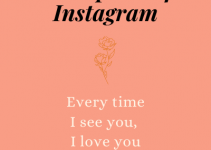 Instagram captions for love