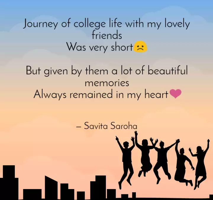 remembering college journey