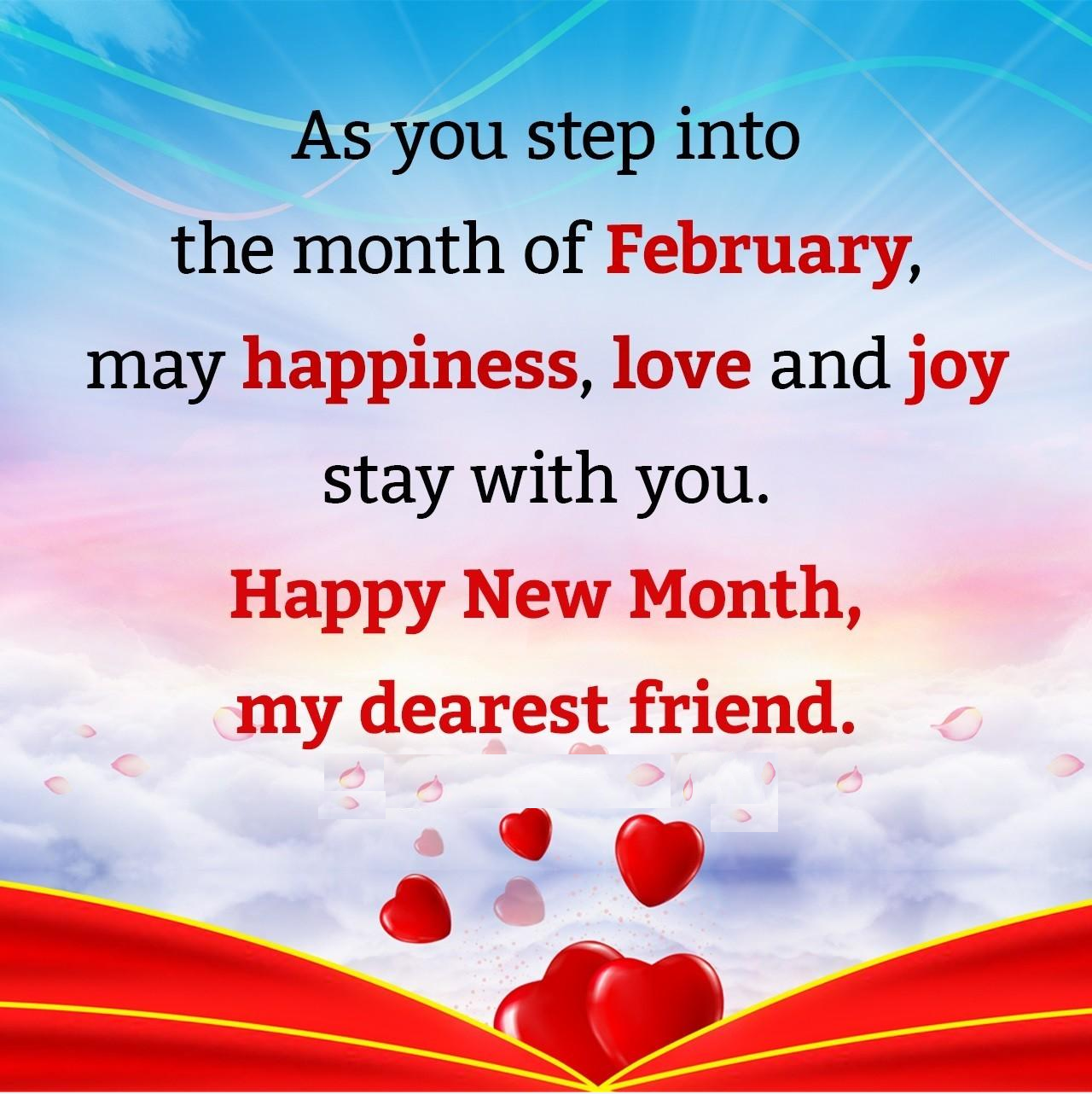 february new month wishes
