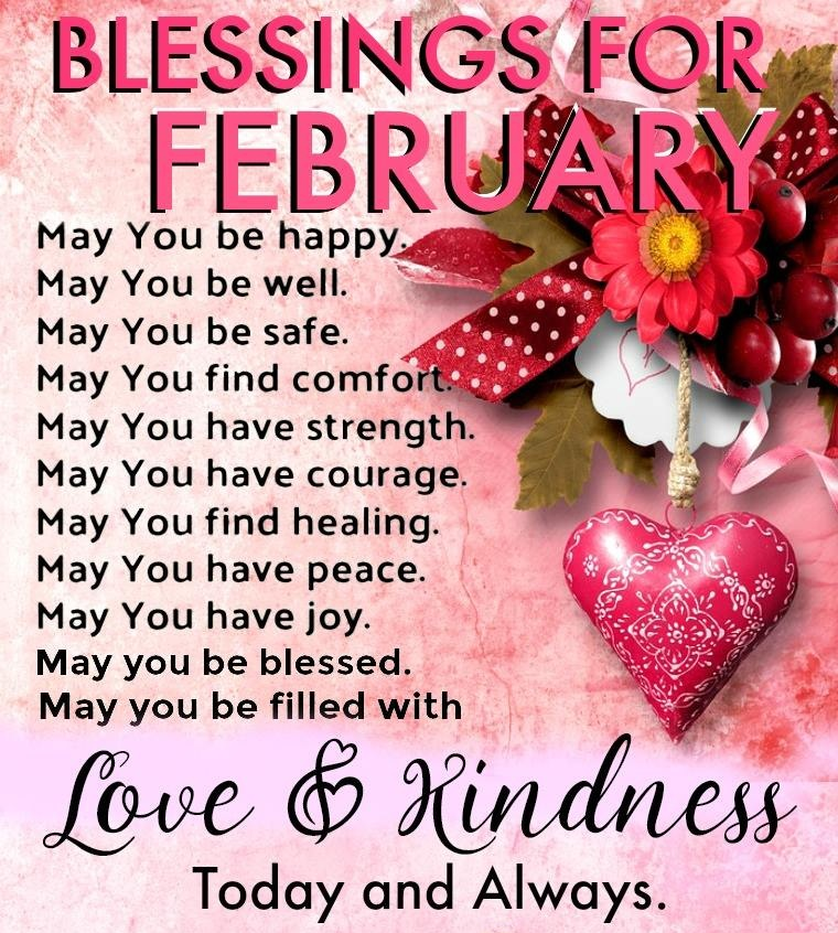 february prayers and blessings