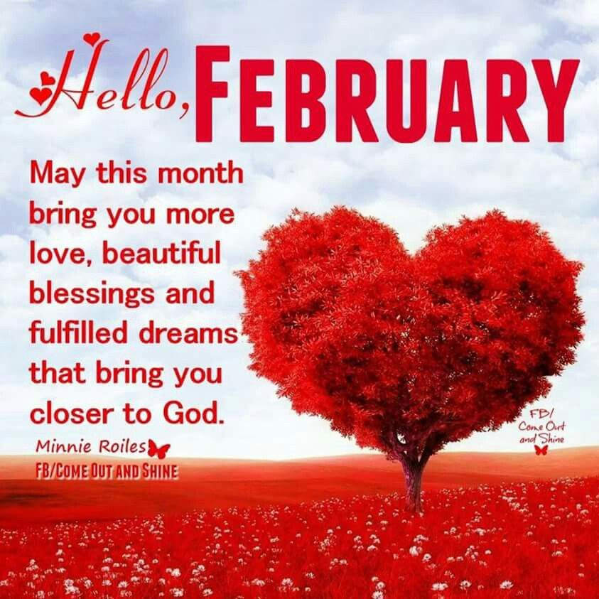 happy new month february wishes