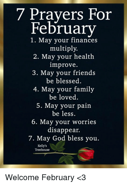 happy new month prayer for february