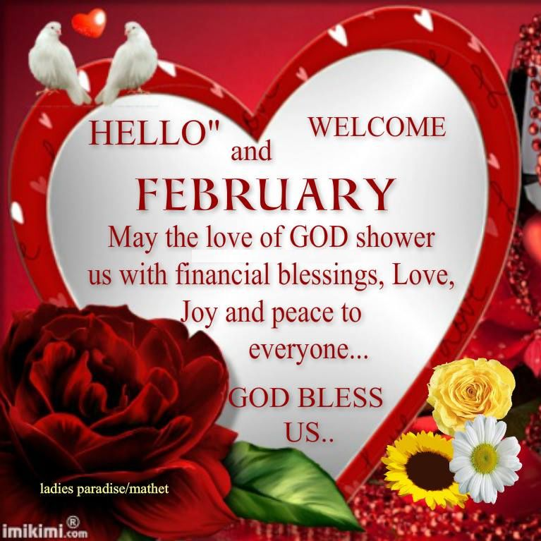 happy new month wishes for february