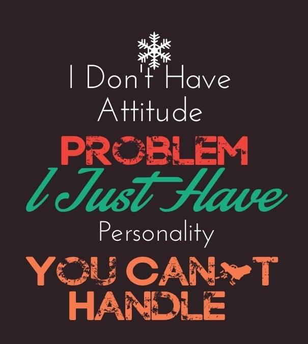 attitude in english quote for girls