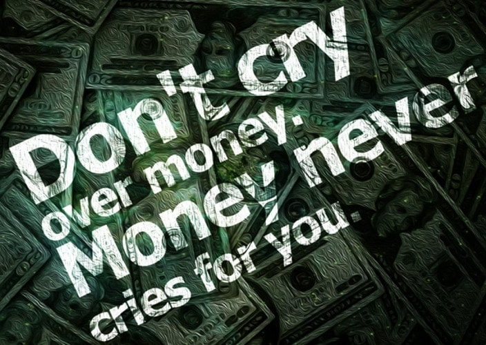 dont cry over money image quotes