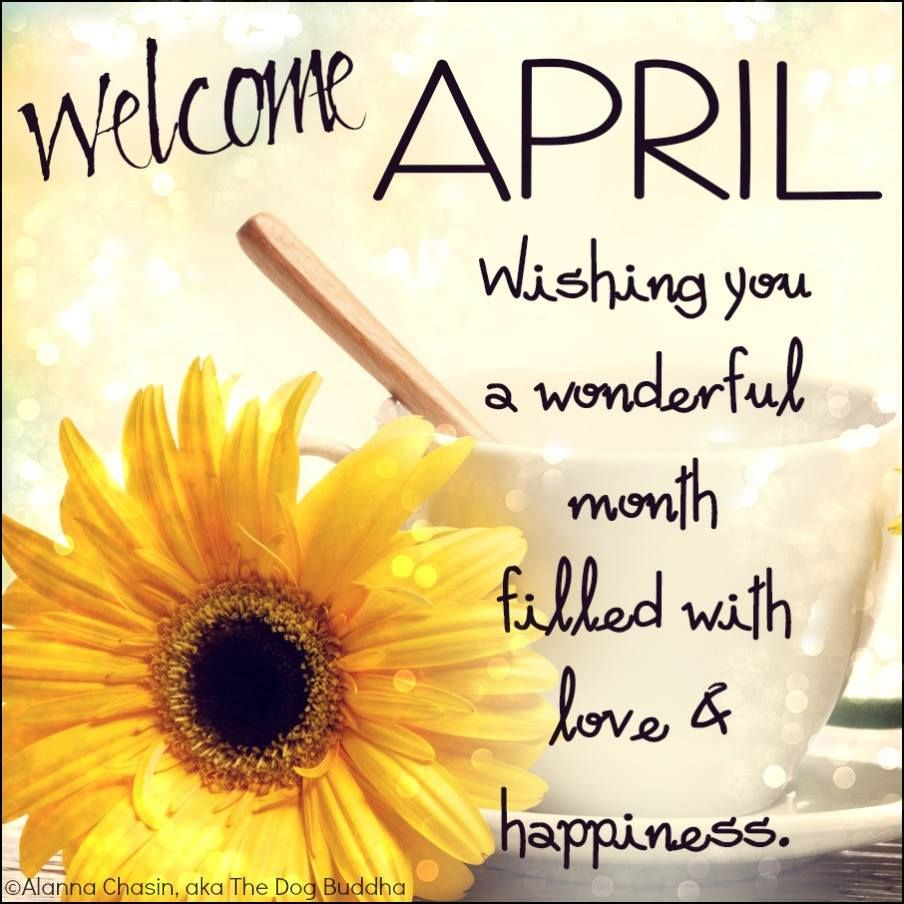 happy new month of april