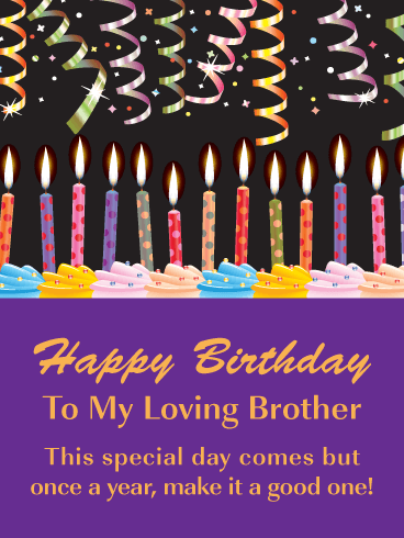 birthday wishes and message for brother