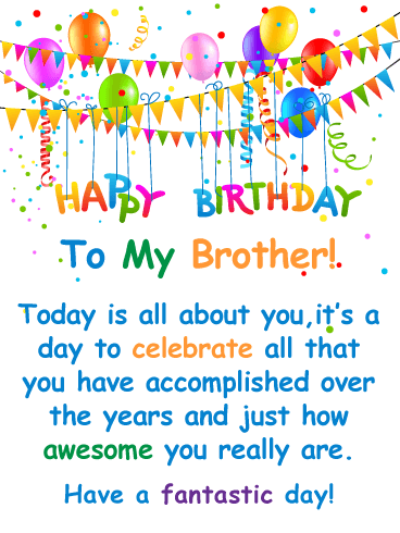 birthday wishes and message to brother