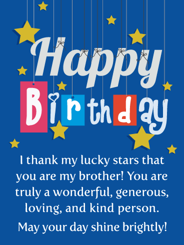 birthday wishes for my brother