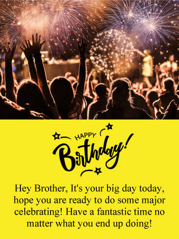 happy birthday message to my brother