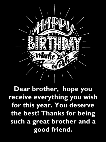 happy birthday touching messages for brother