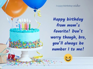 funny happy birthday wishes for brother