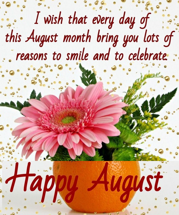 happy new month august post