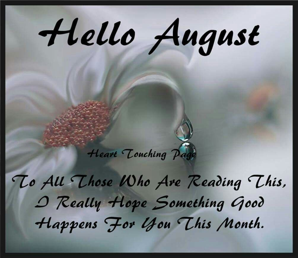 hello august new month post