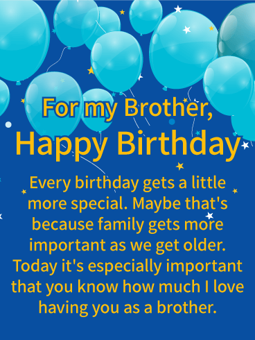 meaningful birthday wishes for brother