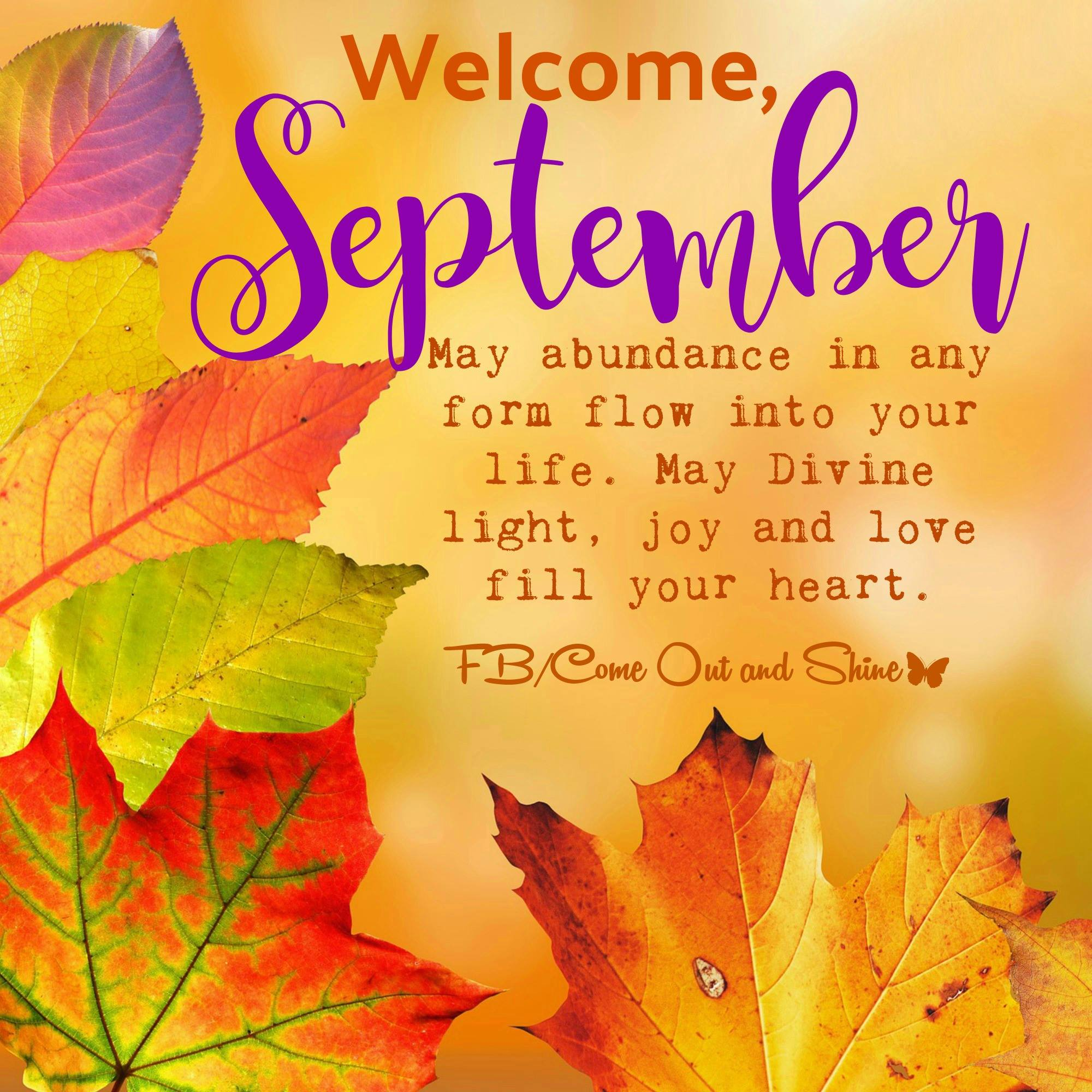 september new month message