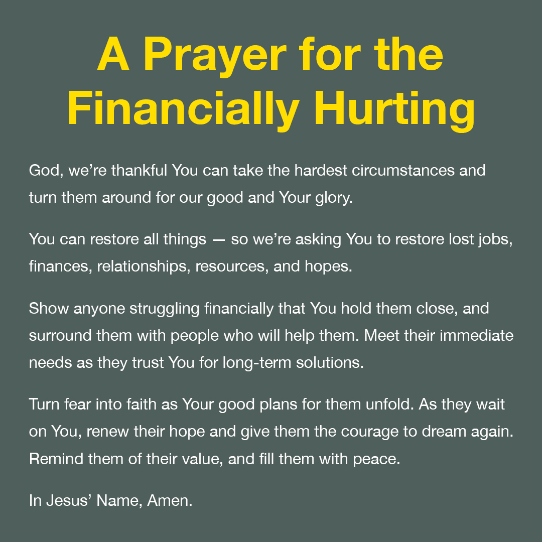 prayer for immediate financial help